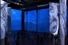 Paris - Exhibition Imagine Van Gogh Royalty Free Stock Photos