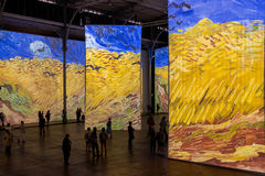 Paris - Exhibition Imagine Van Gogh. Immersive exhibition at the Grande Halle de la Villette in Paris France Royalty Free Stock Photography