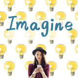 Imagine Vision Inspiration Creativity Dream Big Concept. Imagine Vision Inspiration Creativity Dream Big Stock Image