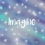 Imagine word written on blue background Royalty Free Stock Photo