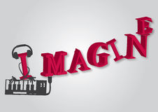 Imaginer-texte Images stock