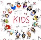 Imaginez l'icône Conept d'éducation de liberté d'enfants Image stock