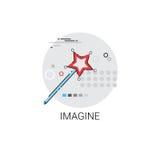 Imaginez l'icône de processus créative d'affaires de nouvelle inspiration d'idée illustration de vecteur