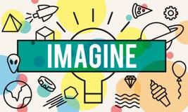 Imaginez le rêve de vision de pensée créative pour s'attendre au concept Image stock