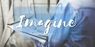 Imaginez que créer le curé conceptualisez le concept d'idées Image libre de droits
