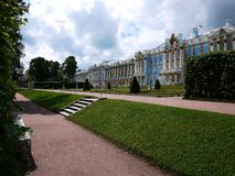 Catherine Park, Tsarskoye Selo. Catherine Palace in Russia, St. Petersburg, visited by tourists from all over the world. Details and close-up stock photo