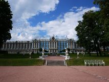 Catherine Park, Tsarskoye Selo. Catherine Palace in Russia, St. Petersburg, visited by tourists from all over the world. Details and close-up stock photos