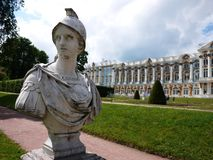 Catherine Park, Tsarskoye Selo. Catherine Palace in Russia, St. Petersburg, visited by tourists from all over the world. Details and close-up royalty free stock photography