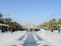 Holy Shrine of Husayn Ibn Ali, Karbala, Iraq. The Imam Husain Shrine or the Station of Imam Husayn Ibn Ali is the mosque and burial site of Husayn Ibn Ali, the royalty free stock photography