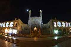 Imam imposant Mosque dans Esfahan, Iran 14 septembre 2016 Image libre de droits
