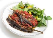 Imam melitzanes stuffed aubergines Royalty Free Stock Image