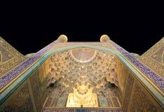 Imam Moskee bij nacht, Isphahan stock afbeeldingen