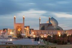 Imam Mosque dopo buio, Ispahan Fotografie Stock Libere da Diritti