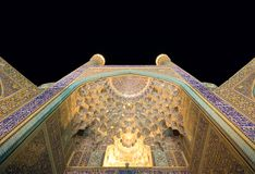 Imam Mosque at night, Isfahan Stock Images