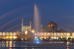 Imam Mosque på den Naghsh-e Jahan fyrkanten i Isfahan, Iran Fotografering för Bildbyråer