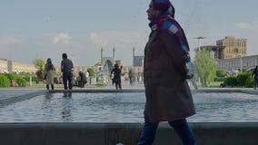 Imam van Isphahan de fontein van Square stock video
