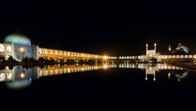 Imam Vierkant bij nacht Stock Foto