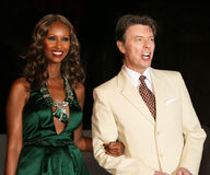 Iman and David Bowie stock photo