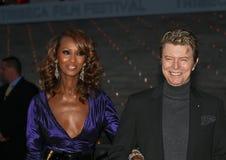 Iman et David Bowie Image stock