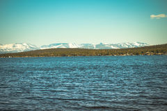 Imandra Lake and Hibiny mountains Northern Landscape Stock Photos