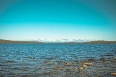 Imandra nordligt landskap för sjö- och Hibiny berg Fotografering för Bildbyråer