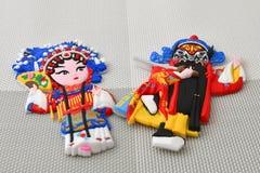 Imanes del refrigerador de dos caracteres históricos chinos famosos de imagenes de archivo