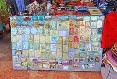 Imanes del refrigerador Tabla del recuerdo, la India Fotos de archivo