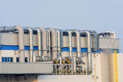 Imanufactory petrokemisk industrianläggning Royaltyfria Bilder