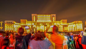 Imapp布加勒斯特,罗马尼亚议会 免版税库存图片