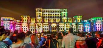 Imapp Boekarest, het Roemeense parlement royalty-vrije stock fotografie