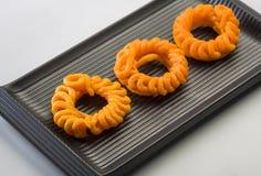 Imarti lub jalebi - Indiański cukierki Zdjęcia Royalty Free