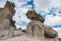 Imata Stone Forest in the peruvian Andes Arequipa Peru Stock Image
