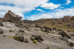 Imata Stone Forest in the peruvian Andes Arequipa Peru Royalty Free Stock Images