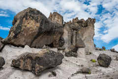 Imata Stone Forest in the peruvian Andes Arequipa Peru Royalty Free Stock Photos