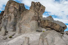 Imata Stone Forest in the peruvian Andes Arequipa Peru Stock Images