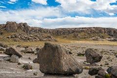 Imata Stone Forest in the peruvian Andes Arequipa Peru Stock Image