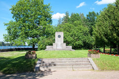 Imatra Финляндия Мемориальный памятник кладбища Стоковое Изображение
