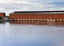 Imatra Costruzione della centrale idroelettrica Fotografie Stock