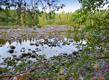 Imatra. Dry Riverbed of Vuoksa River Stock Photo