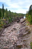 Imatra. Dry Riverbed of Vuoksa River Stock Photography