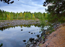 Imatra. Dry Riverbed of Vuoksa River Royalty Free Stock Images