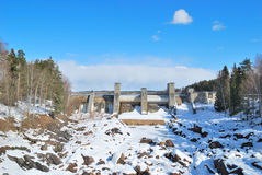 Imatra, Finland.  Canyon Imatrankoski Royalty Free Stock Photography