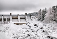 Imatra. Finland. Imatrankoski Rapid and canyon Stock Images