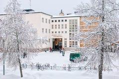 Imatra finland L'école Finlandais-russe de la Finlande orientale images stock