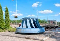 Imatra finland Monument hydraulique de rotor de turbine photo libre de droits
