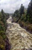 Imatra, Finland. River Vuoksa Stock Images