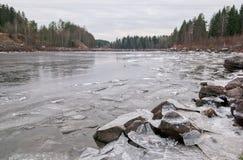 Imatra, Finland. Vuoksi River Royalty Free Stock Photography