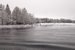 Imatra, Finland. Water supply canal Stock Photography