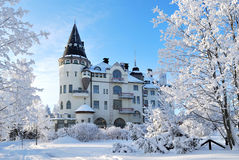Imatra, Finland,  in winter. Architecture of northern modern in Imatra, Finland Royalty Free Stock Photography