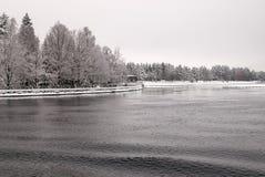 Imatra, Finlande Canal d'approvisionnement en eau photographie stock